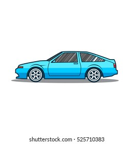 Japanese Car Side View Stock Illustrations Images Vectors Shutterstock