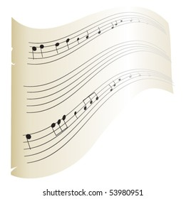 vector old music sheets