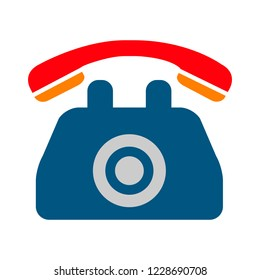 vector old phone illustration. communication icon