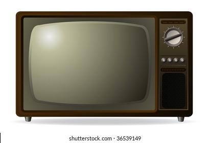 vector old retro tv
