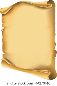 Vector. Old scroll, manuscript