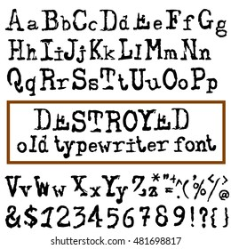 Typewriter Font Images, Stock Photos & Vectors | Shutterstock