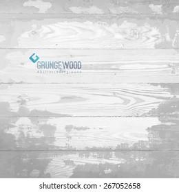vector old wood floor texture, grunge background