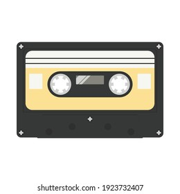 Vector of old-school classical cassette tape isolated on a white background