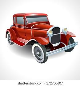vector oldtimer car