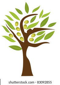 vector olive tree