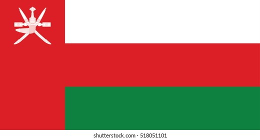 Vector Oman flag, Oman flag illustration, Oman flag picture, Oman flag image,