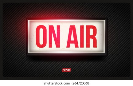 Vector on air sign