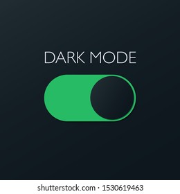 Vector On and Off Switch. Dark and Light Mode Switcher for Phone Screens, tablets and computers. Toggle Element for Mobile App, Web Design, Animation. Light and Dark Buttons.