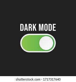 Vector On Off Switch. Dark and Light Mode Switcher for Phone Screens. Toggle Element for Mobile App, Web Design, Animation. Light and Dark Buttons.