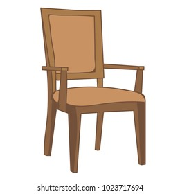 vector on white background, isolated chair