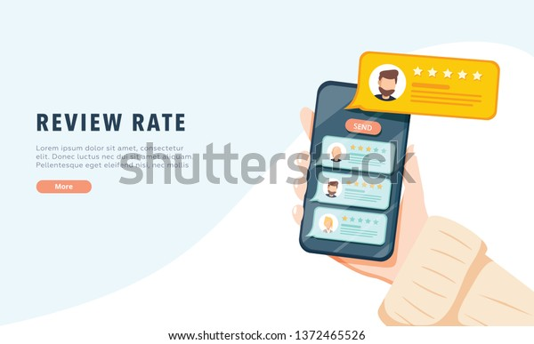Vector Online Application On Mobile Phone Stock Vector Royalty Free 1372465526