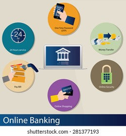 vector online banking concept illustration