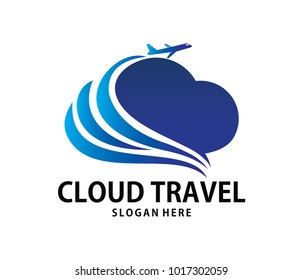 vector online travel tour beyond cloud storage logo design for web logo, application logo, icons, brand identity and more