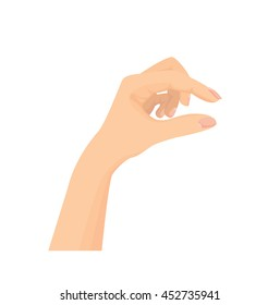 Vector of Open hands isolated on white background