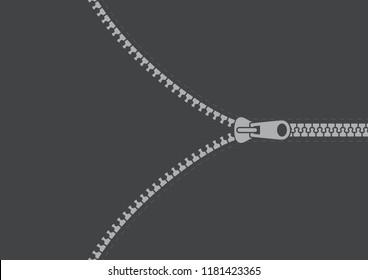 Vector opening zipper with orange base