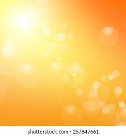 vector orange background with sun