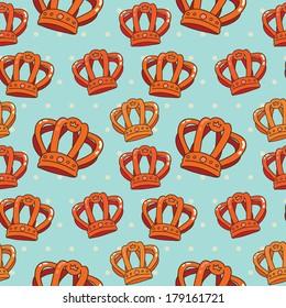 Vector orange crown pattern.