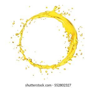 vector orange juice splash circle