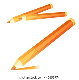Vector Orange Pencil.
