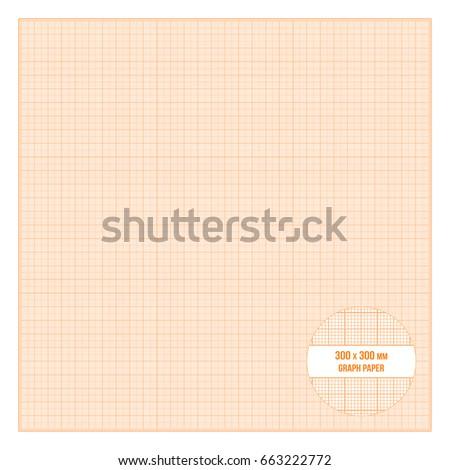 vector orange printable metric graph paper stock vector royalty