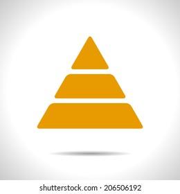 Vector orange pyramid icon. Eps10