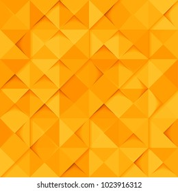 Vector orange seamless - origami pattern