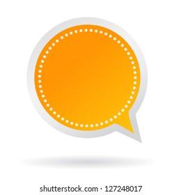 Vector orange speech sticker