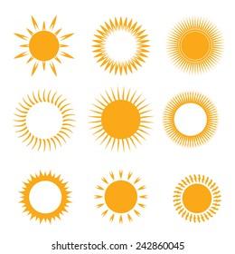 vector orange symbol of sun