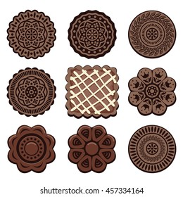vector oreo cookie set
