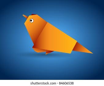 Vector origami bird