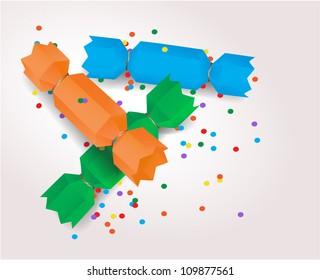 Vector origami crackers