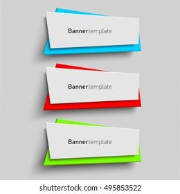 Paper Shape vector origami paper shape design stock vector 523219027