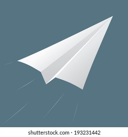 Vector of origami rocket , rocket paper , paper plane , paper airplane isolated. Illustration
