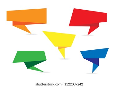 vector of origami speech bubbles
