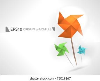Vector origami windmills design