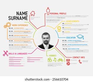 Infographic Resume Stock Vectors Images Vector Art Shutterstock