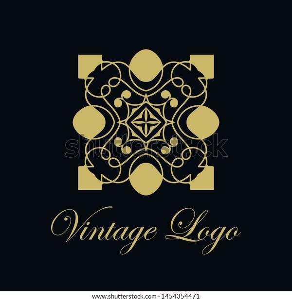 Vector Ornament Logo Design Template Luxury Stock Vector
