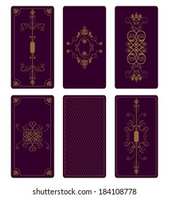 Vector ornament for Tarot cards or playing cards