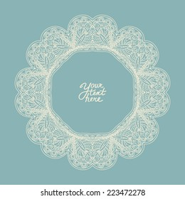 Vector ornamental circle frame. It can be used for card, invitation, poster, banner, fabric design, wedding card.