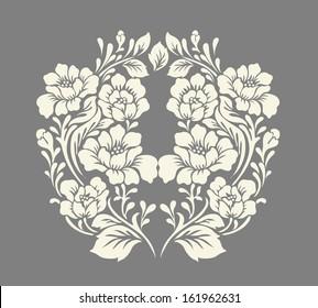 Vector ornamental Decorative elements design,rose bouquet.