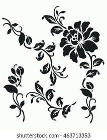Vector ornamental Decorative elements design,rose design set.