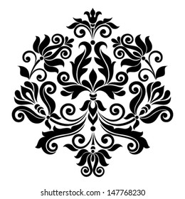 Vector ornamental floral element. Vintage style
