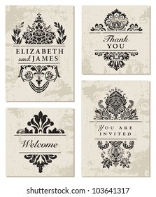 Vector Ornamental Frame Set. Easy to edit. Perfect for invitations or announcements.