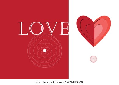 Vector ornamental heart isolated on white background. Valentine's card for the holiday heart