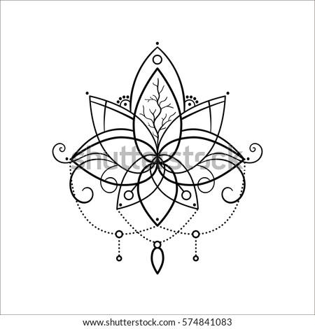 Flower Outline Tattoo Best Flower Site