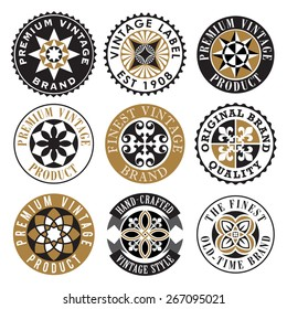 Vector Ornamental Vintage Label Set