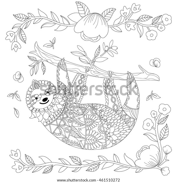 Zentangle - Free printable Coloring pages for kids | 620x600