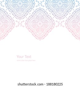 Vector ornate light background with border and copy space
