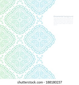 Vector ornate light background with copy space